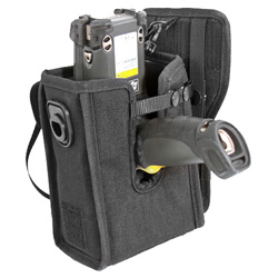 Cordura Nylon Holster with Waist Pad and Safety Strap for Left or Right Handed Use of Motorola MC9000G Gun