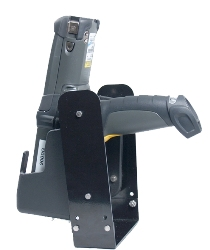 Motorola MC9090G Molded Polypro Holster with Metal Bracket for Forklift mounting - click here for more information