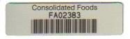 57mm x 16mm Aluminium Asset Label with permanent adhesive