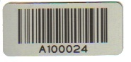 57mm x 26mm Aluminium Asset Label with permanent adhesive