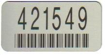 70mm x 35mm Aluminium Asset Label with permanent adhesive
