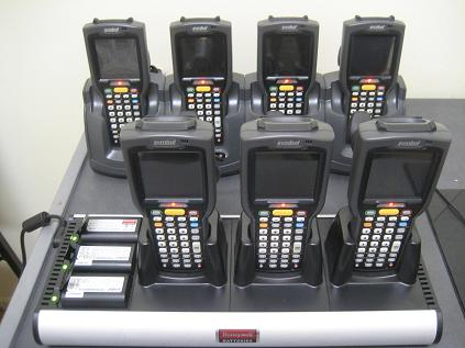 Motorola MC3090 pistol grip RF mobile computers for rent with cradles and spare batteries