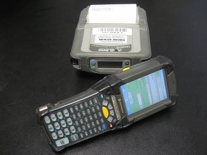 Motorola MC9090 prints to a Zebra QL420 mobile label printer over the wireless 802.11 b/g radio network