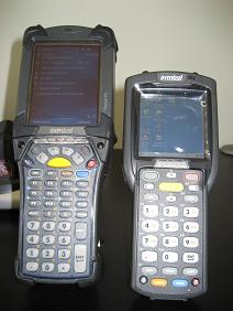 Motorola MC9090 gun compared to Motorola MC3090 gun
