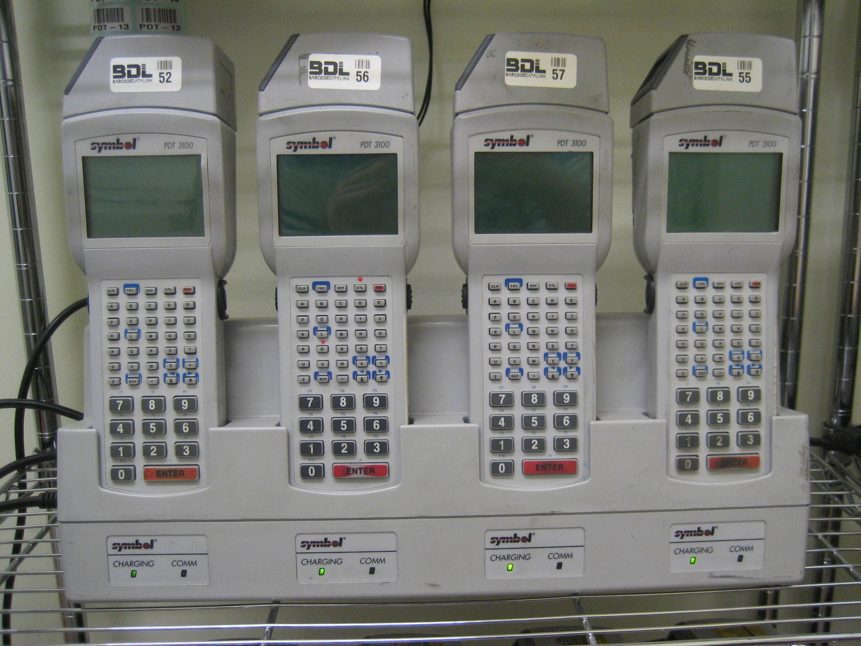 The Symbol PDT-3100 batch DOS based terminal. Still popular for simple data collection applications such as stocktaking. Available with 4 slot cradles and spare batteries.