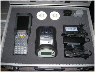 Barcode Datalink can customise an aluminium case for transportation of your Zebra printer along with a Motorola mobile computer