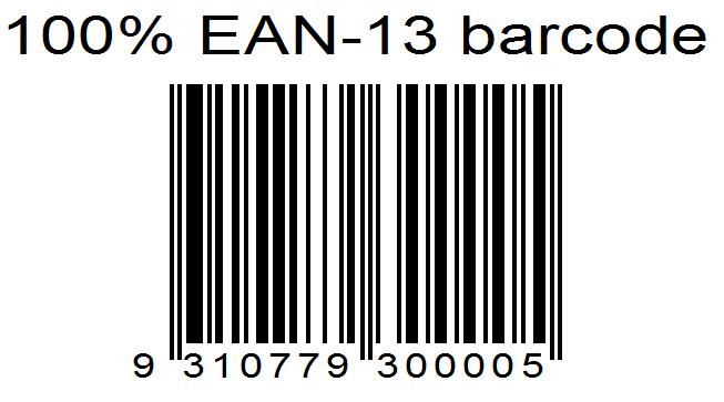 Ean 13 With Aligned Barcode Text Spire Barcode