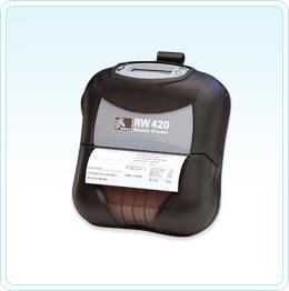 "Zebra RW420 Plus 102mm (4"") wide 203 dpi direct thermal receipt printer"
