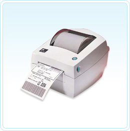 """Pictured here is the Zebra LP2844 is a 4"""" wide 203 dpi printer with EPL - click the image to see all the Zebra printers Barcode Datalink has to offer"""