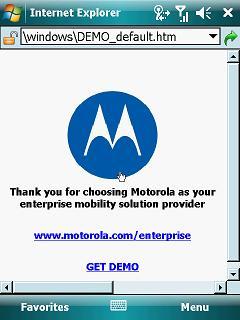 MC9500K Internet Explorer default web address