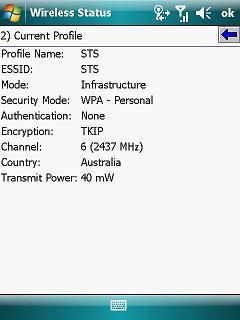 MC9500K wireless profile