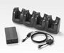 Motorola MC3000 series 4 slot charging cradle kit. Includes power supply and all cables. Does not offer USB or serial interface