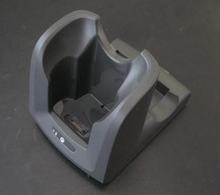 MC3000 single slot cradle. Also charges a second spare battery in the rear slot