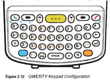 Motorola MC70 qwerty keypad