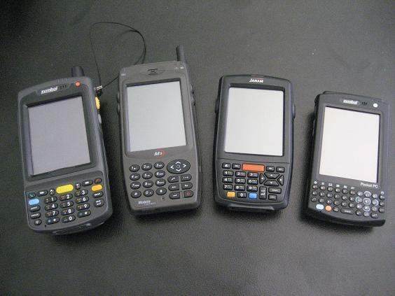 Comparison of Motorola MC70, M3 Sky, Janam XM65 and Motorola MC50