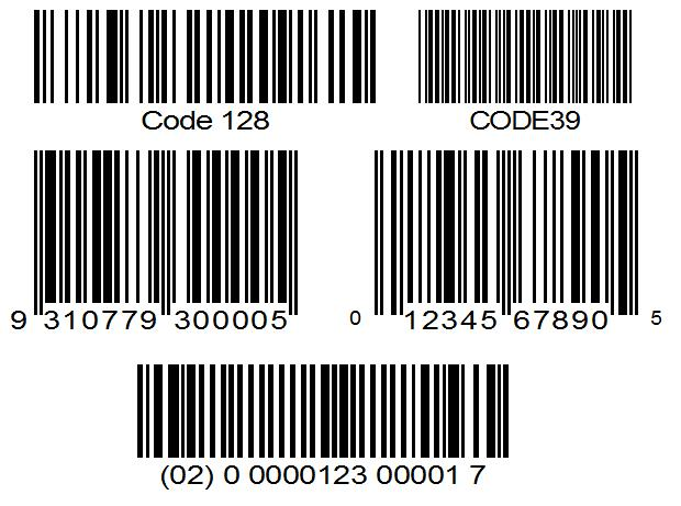 standard barcodes code 39 code128