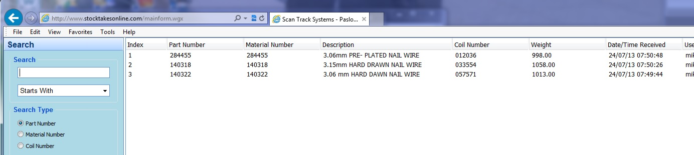 Wire Coil search results