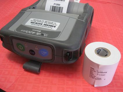 Direct thermal receipt rolls for the Zebra QL & RW series mobile printers